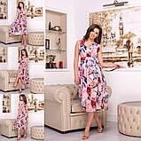 Платье с цветочным принтом / софт / Украина 15-662, фото 5