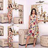 Платье с цветочным принтом / софт / Украина 15-662, фото 6