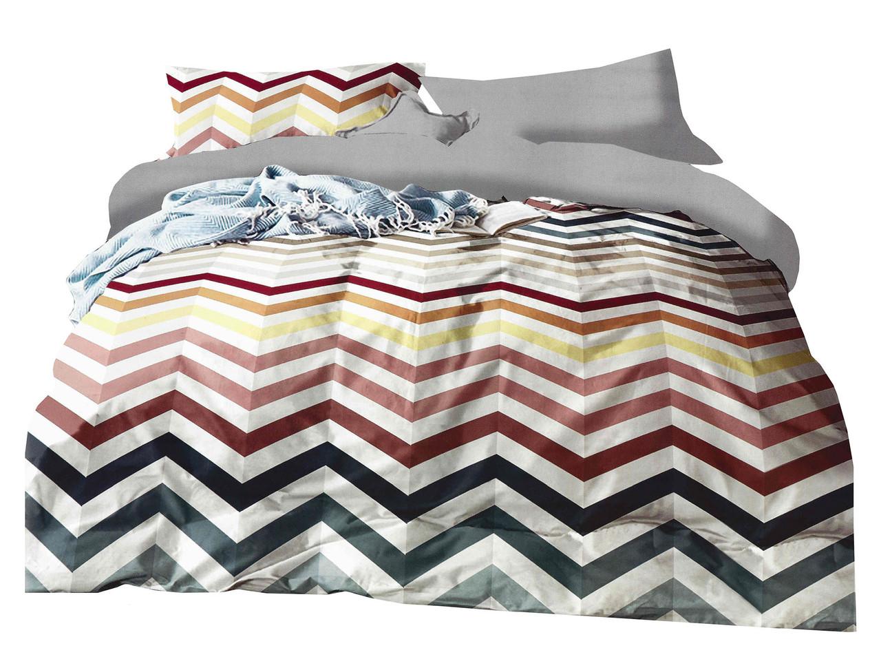 Комплект постельного белья Микроволокно HXDD-736 Collection World 6056 Разноцветный