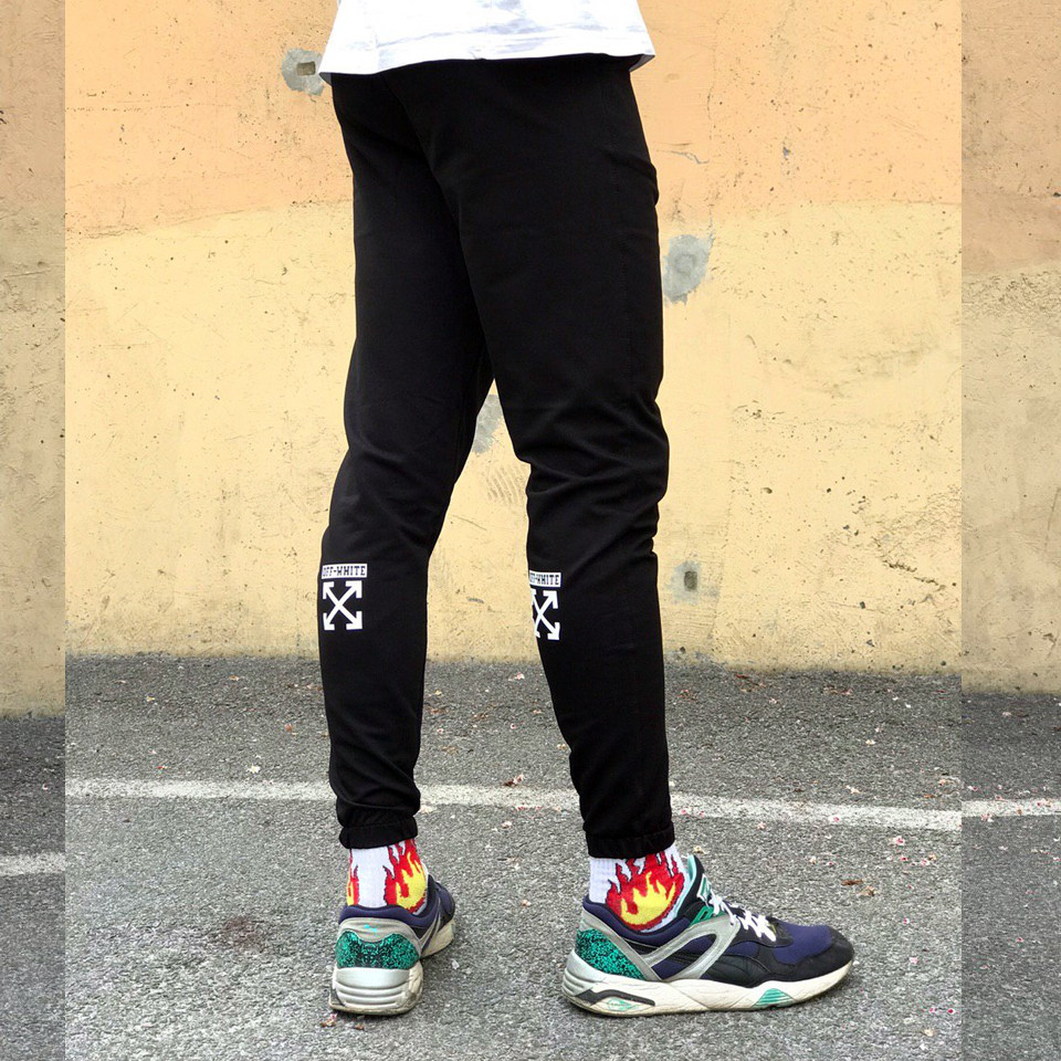 Спортивные штаны в стиле Off White XX черные
