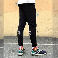 Спортивные штаны в стиле Off White XX черные, фото 1