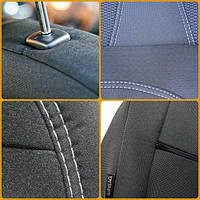 Чехлы на сиденья Nissan Micra (K12) задняя спинка раздельная 2003-2010 'Elegant'