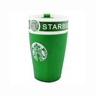 ✅ Керамічна чашка Starbucks,  колір - Зелений, термочашка Старбакс, це зручна, чашка термос