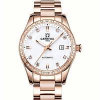 Женские часы Carnival Золотистые (8720)