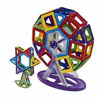 Магнитный конструктор Supretto 130 предметов Разноцветный (5079)