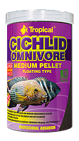Сухой корм Tropical Omnivore Medium Pellet для цихлид 60966, 1L /360g