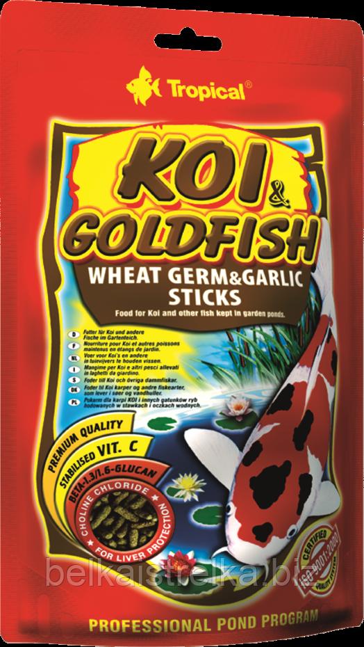 "Tropical KOI&Goldfish Wheat Germ&Garlic Sticks 40548, 11л /1,3кг - корм для рыб - Интернет-магазин ""Belka i strelka"" в Харькове"