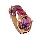 Часы кварцевые женские Guxiaoshou Малиновый, фото 2