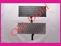 """Клавиатура APPLE MacBook Air A1369 2011 A1466 2012-2017 MC503 MC504 13.3"""" US RU black горизонтальный Enter клавиши под подсветку рус"""