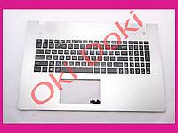 Клавиатура Asus N76 series Keyboard+передняя панель rus silver подсветка клавиш