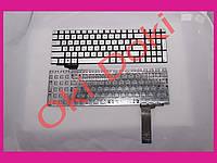 Клавиатура Asus G550 N550 N750 series G56 N56 N76 Q550 rus silver без фрейма