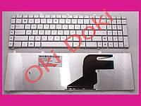 Клавиатура Asus N55 N75 X5QS rus silver N75 version горизонтальный Enter