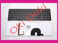 Клавиатура HP Envy 17-1000 17-1100 17-2000 17-2100 17-2200 series rus black с подсветкой с рамкой