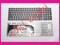 Клавиатура HP Pavilion m6-1000 ENVY m6-1100 m6-1200 черная с серой рамкой