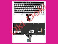 Клавиатура LENOVO Z400 rus black silver frame подсветка клавиш