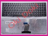Клавиатура Lenovo IdeaPad B570 B575 B580 B590 V570 V575 V580 Z570 Z575 rus black dark silver frime