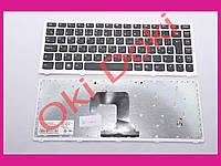 Клавиатура Lenovo S300 S400 S405 белая рамка type 4