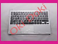Клавиатура Samsung NP350U2A NP350U2B топкейс BA75-03263C черная серебристый корпус