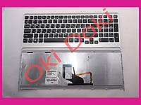 Клавиатура Sony VPC-F219FC VPCF217 с серой рамкой,и подсветкой