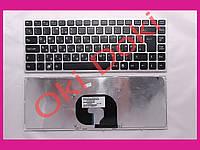 Клавиатура SONY VPC-YA VPC-YB series rus silver frime black key