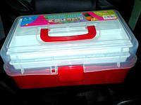 Пластиковый чемодан для мастера маникюра и педикюра. Размер 33х17х14