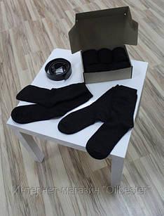 Набор мужских теплых носков черного цвета № 2 Арт. 3820