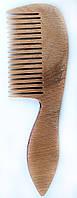 Гребешок для волос деревянный с ручкой, (192мм)