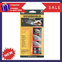 Набор для ремонта трещин лобового стекла Windshield Repair Kit D1001   комплект для атомобиля