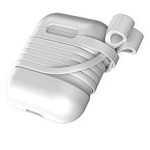 Чехол силиконовый для AirPods Baseus Case с держателем для наушников, фото 2