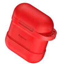 Чехол силиконовый для AirPods Baseus Case с держателем для наушников, фото 3