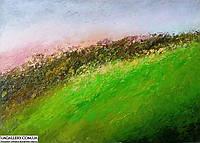 Картина абстракция маслом - абстрактный пейзаж, фото 1