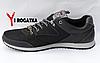 Мужские кожанные кроссовки Splinter черные, сетка, белые вставки на подошве, фото 3