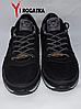 Мужские кожанные кроссовки Splinter черные, сетка, белые вставки на подошве, фото 2