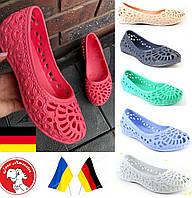 Балетки женские. Германия Crocs. Летние женские босоножки, пляжные лодочки, кроксы, обувь мыльницы.