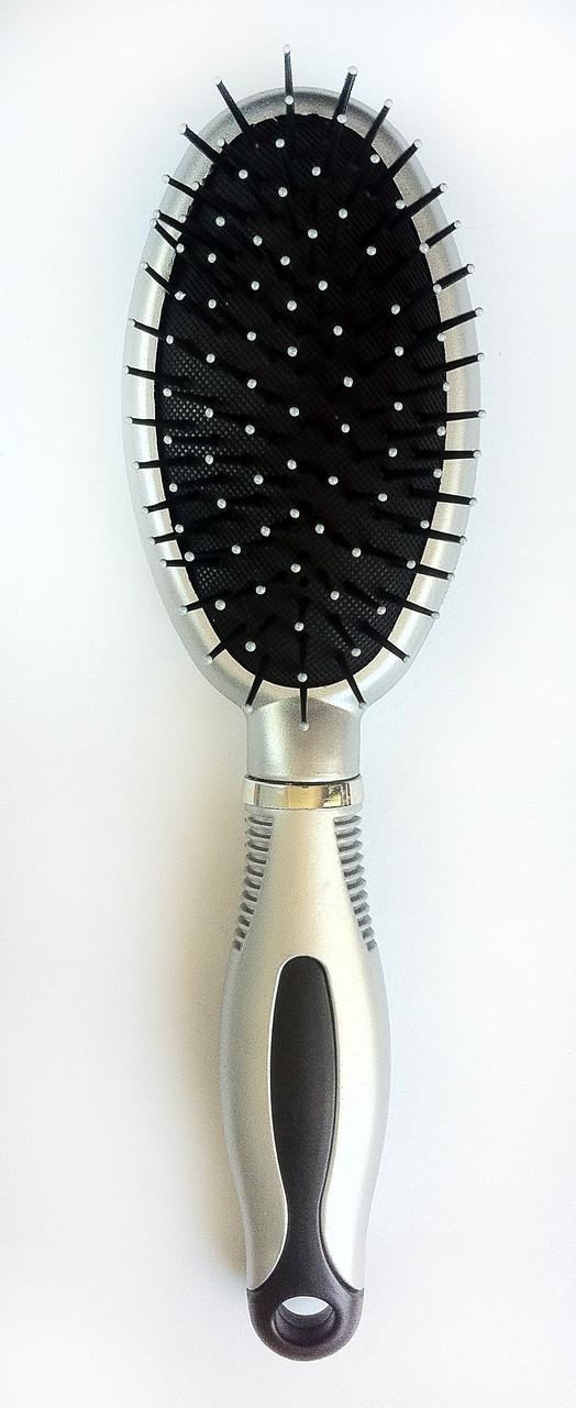Массажная щётка для волос, овальная, с гребешком, (230 мм)