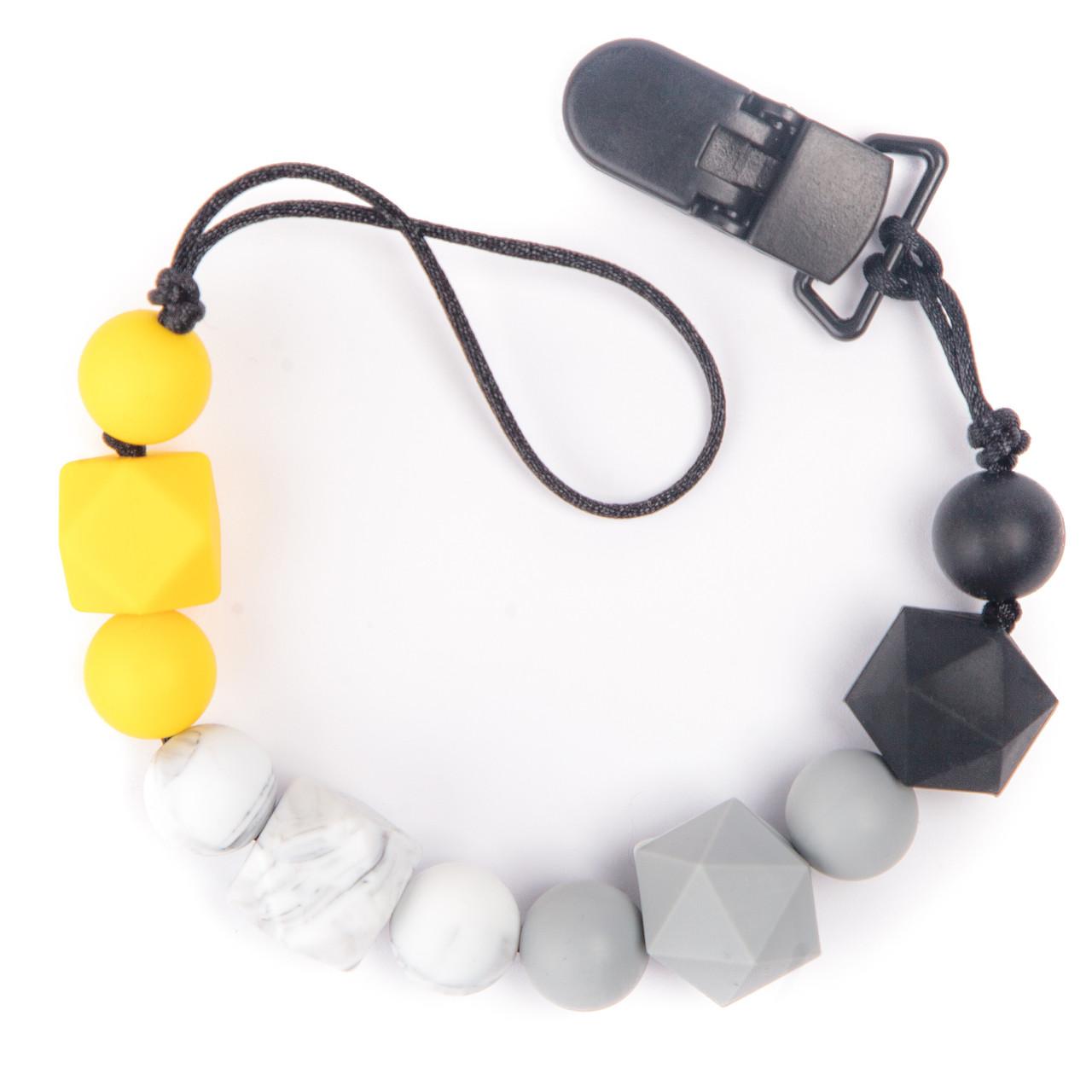 Прорезыватель-держатель для соски BabyMio Желтый Градиент (PROD2)
