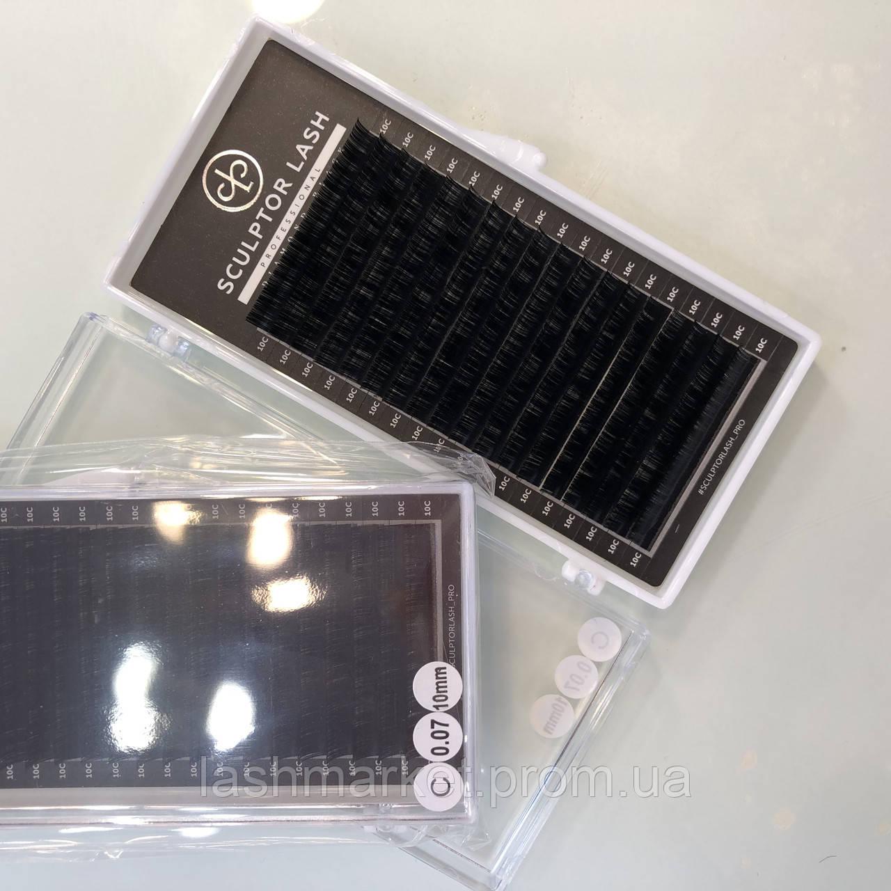 Ресницы C 0,10 * 10 mm Sculptor Lash Diamond Black