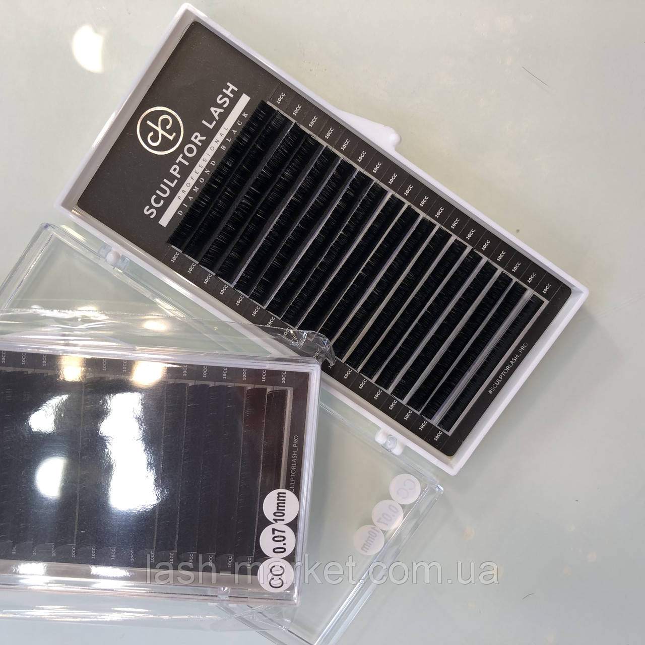 Ресницы CС 0,07 * 9 mm Sculptor Lash Diamond Black