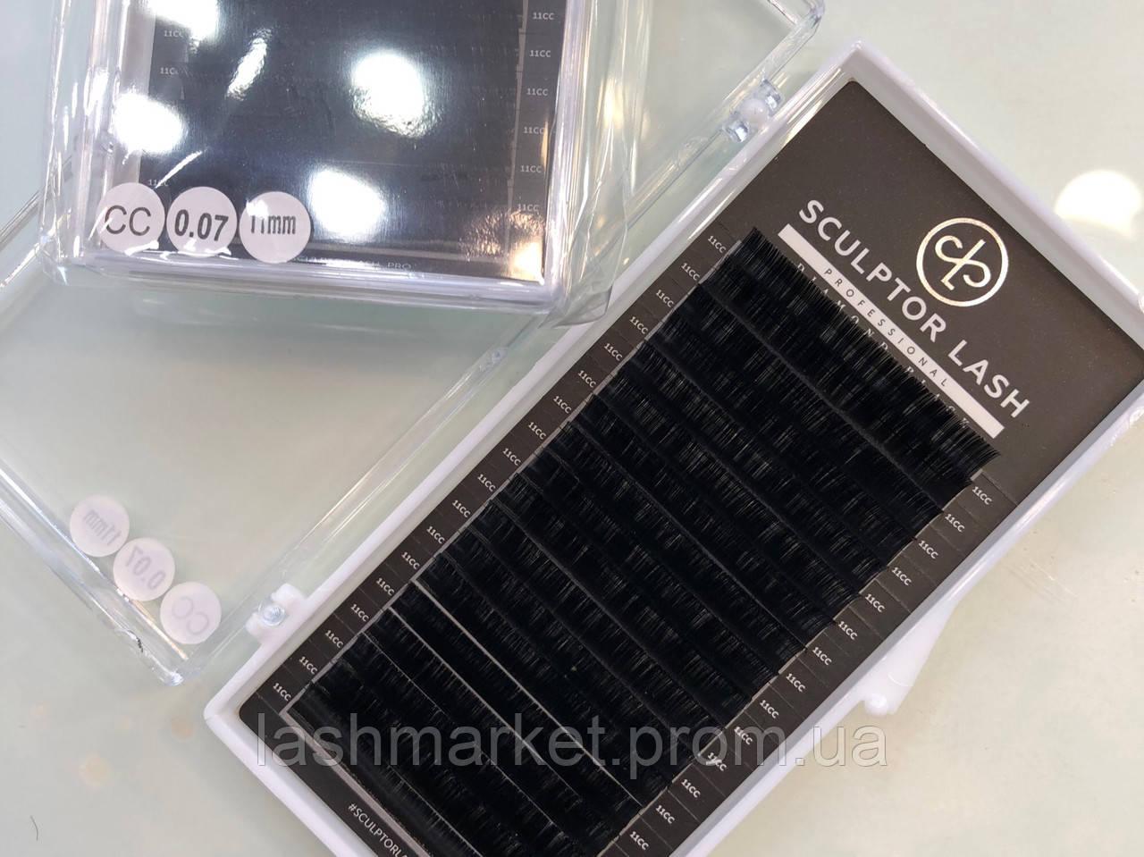 Ресницы CС 0,07 * 11 mm Sculptor Lash Diamond Black