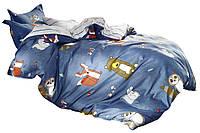 Комплект постельного белья Хлопковый Сатин Детский NR C1257 Oulaiya 1723 Синий