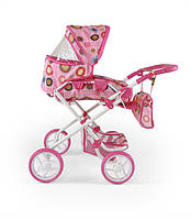 Коляска для кукол Milly Mally Paulina розовая/коричневая (0205)