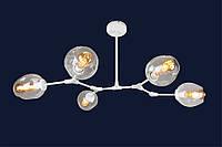 Люстра молекула 756LPR0231-5 WH+CL