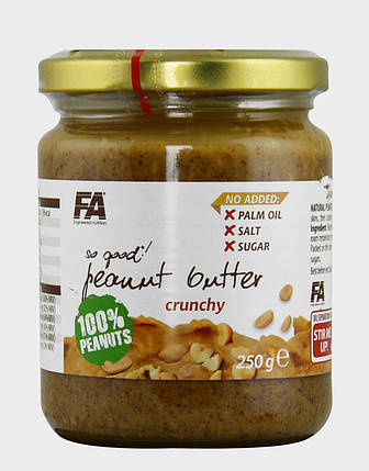 Арахісове масло Fitness Authority So Good! Peanut Butter Crunchy 250 г, фото 2