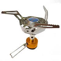 Газовая горелка Tramp TRG-041 складная с ветрозащитой Серебристый (007590)