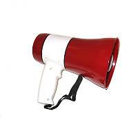 Мегафон рупор громкоговоритель UKC ER-22 Белый с красным (008331)