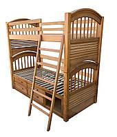 Кровать двухъярусная СОН из ясеня или клена