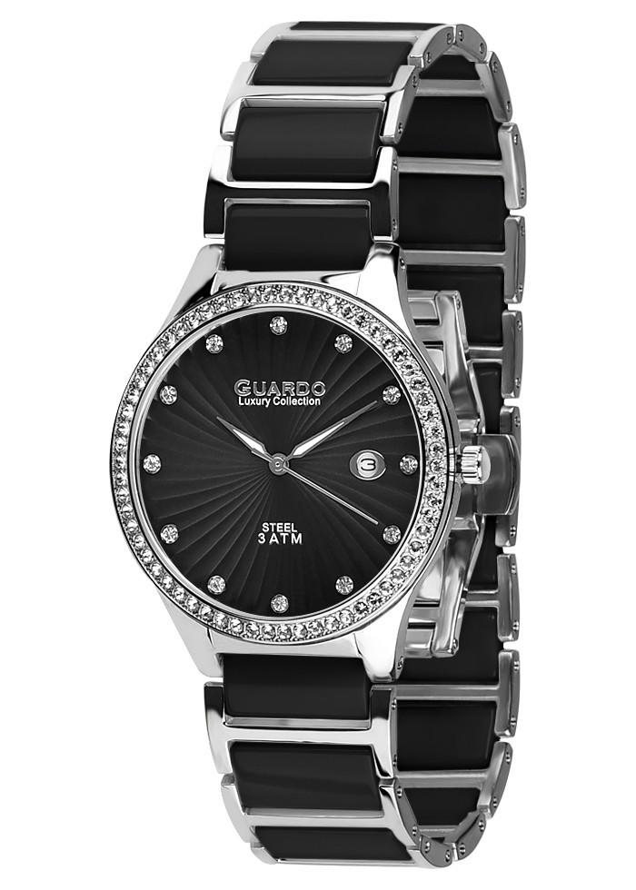 Часы женские Guardo S0578-1 серебряно-черные