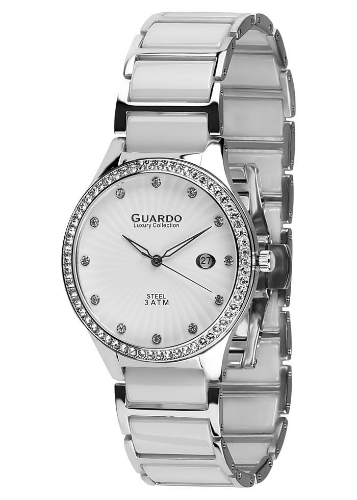 Часы женские Guardo S0578-2 серебряно-белые