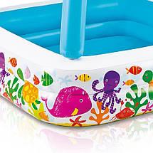 Детский бассейн Intex 57470, квадратный, со съёмной крышей, фото 2
