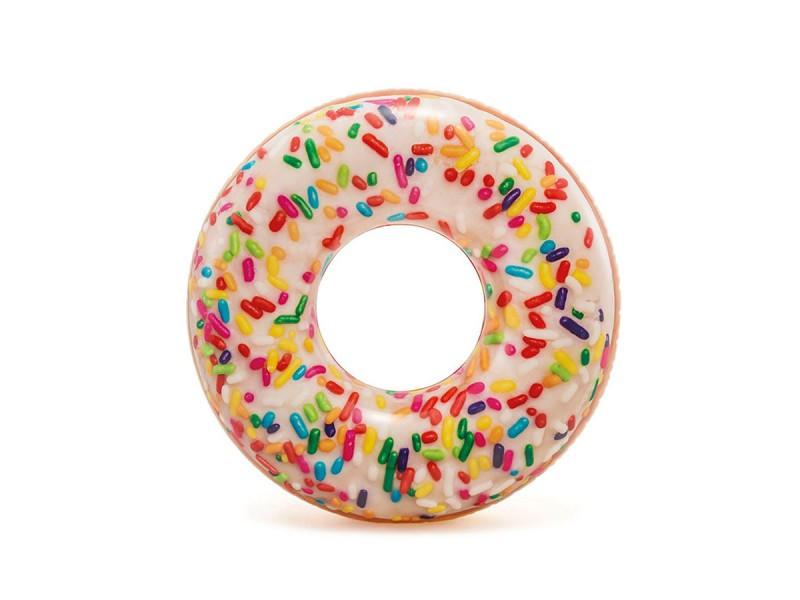 Круг надувной Пончик, 110 см,  INTEX
